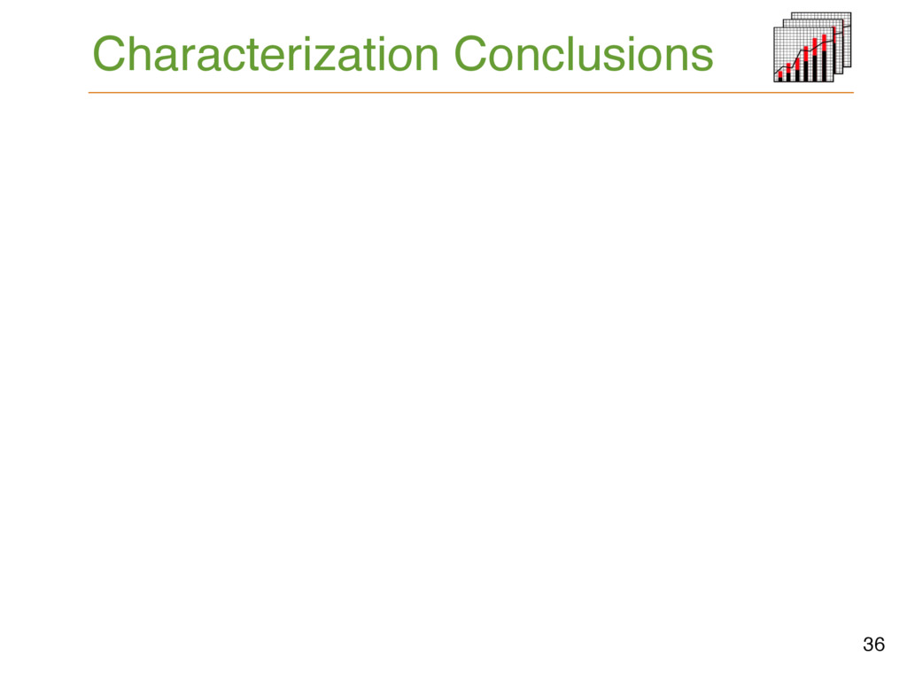 Characterization Conclusions 36