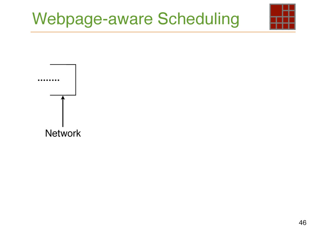 Webpage-aware Scheduling 46 Network ........
