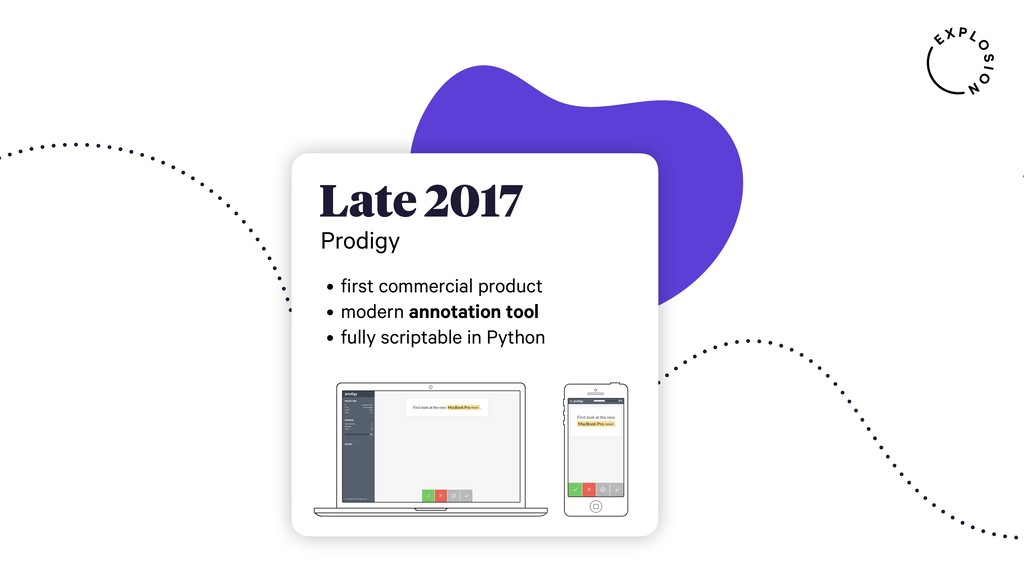 Late 2017 Prodigy • first commercial product • ...