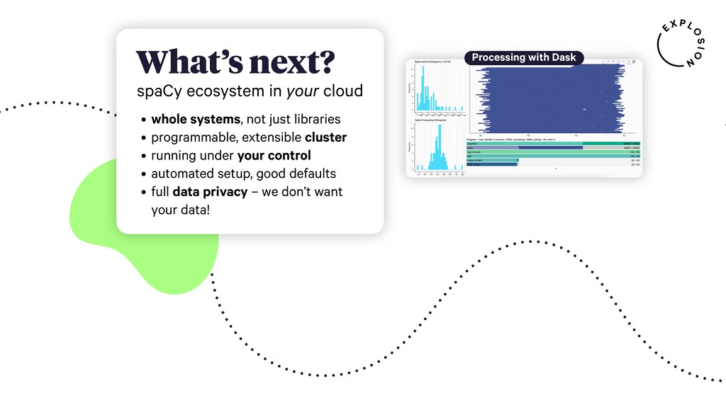 , What's next? spaCy ecosystem in your cloud • ...