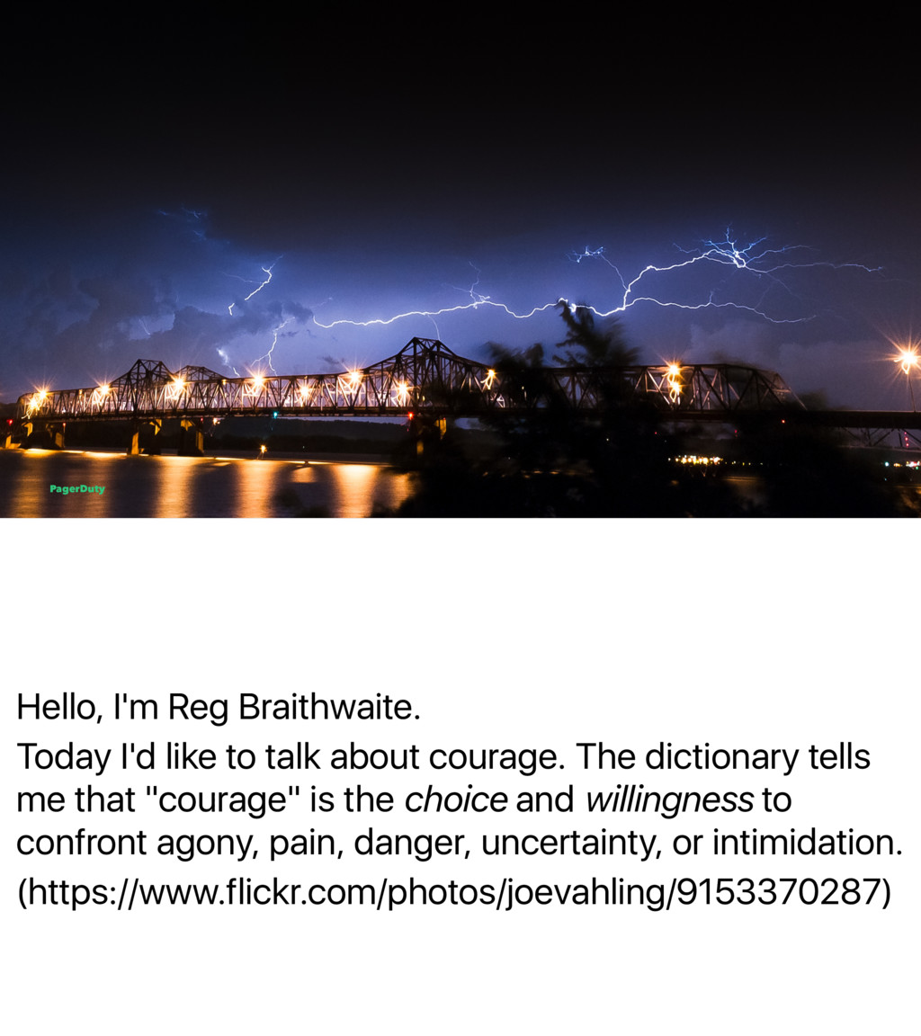 Hello, I'm Reg Braithwaite. Today I'd like to t...