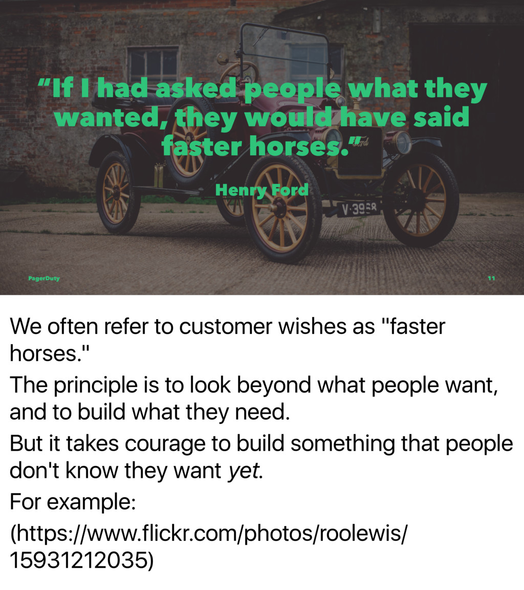 "We often refer to customer wishes as ""faster ho..."