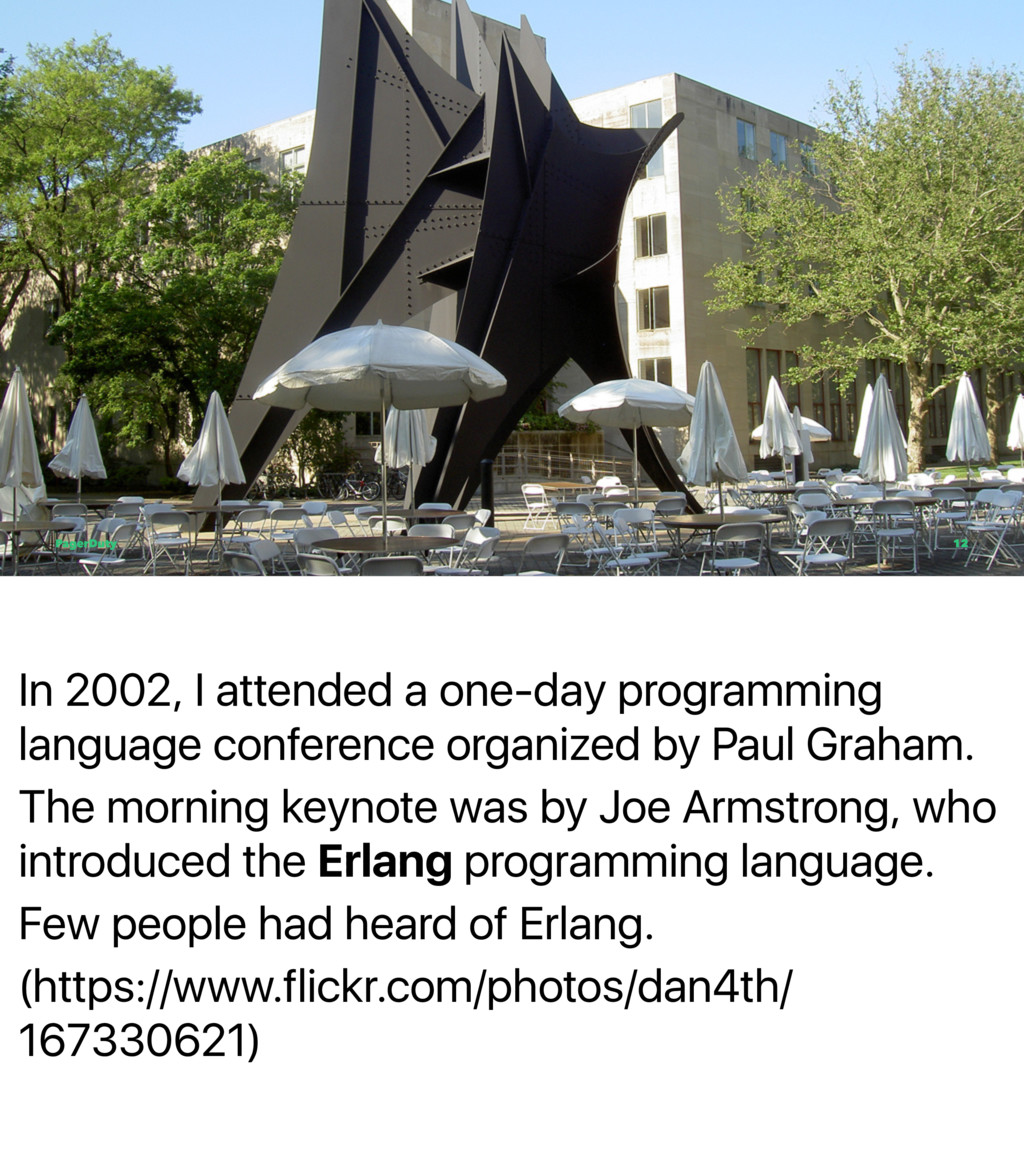 In 2002, I attended a one-day programming langu...
