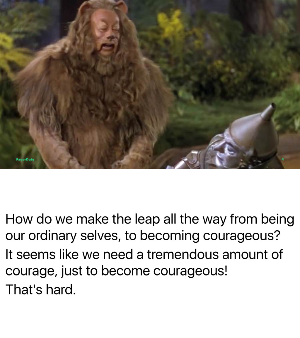 How do we make the leap all the way from being ...