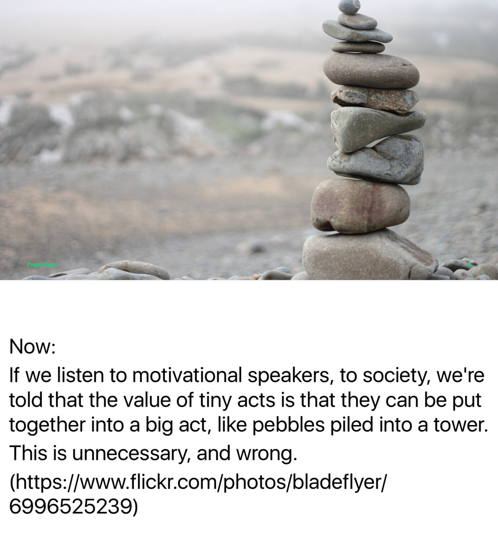 Now: If we listen to motivational speakers, to ...