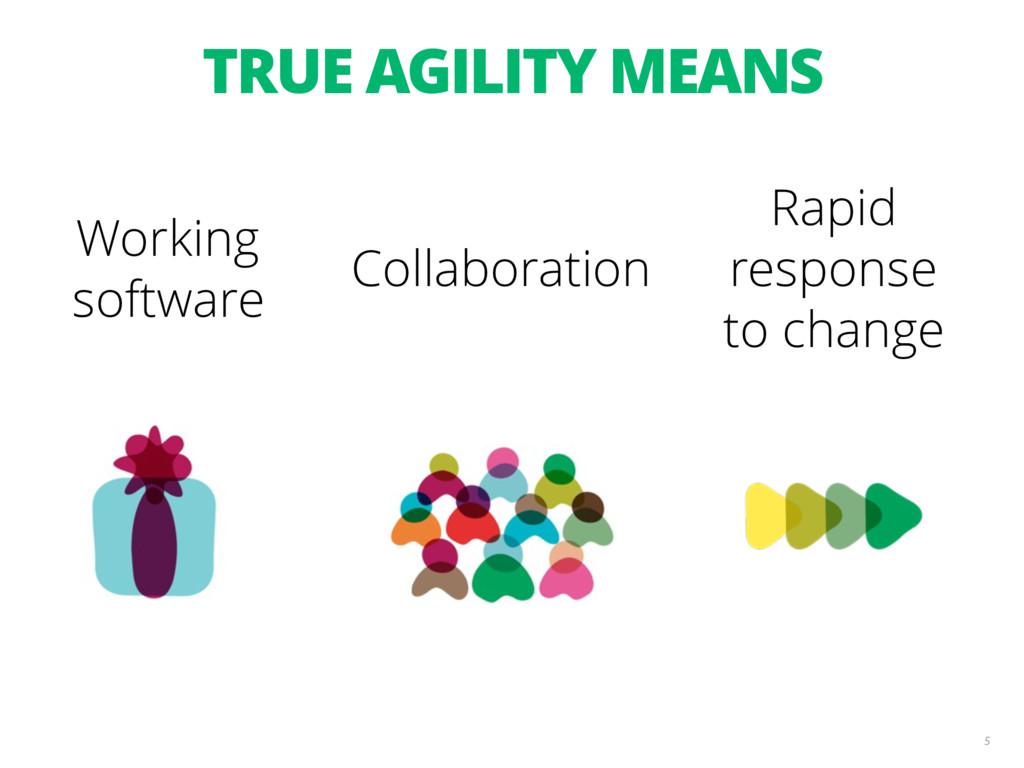 TRUE AGILITY MEANS 5 Collaboration Rapid respon...