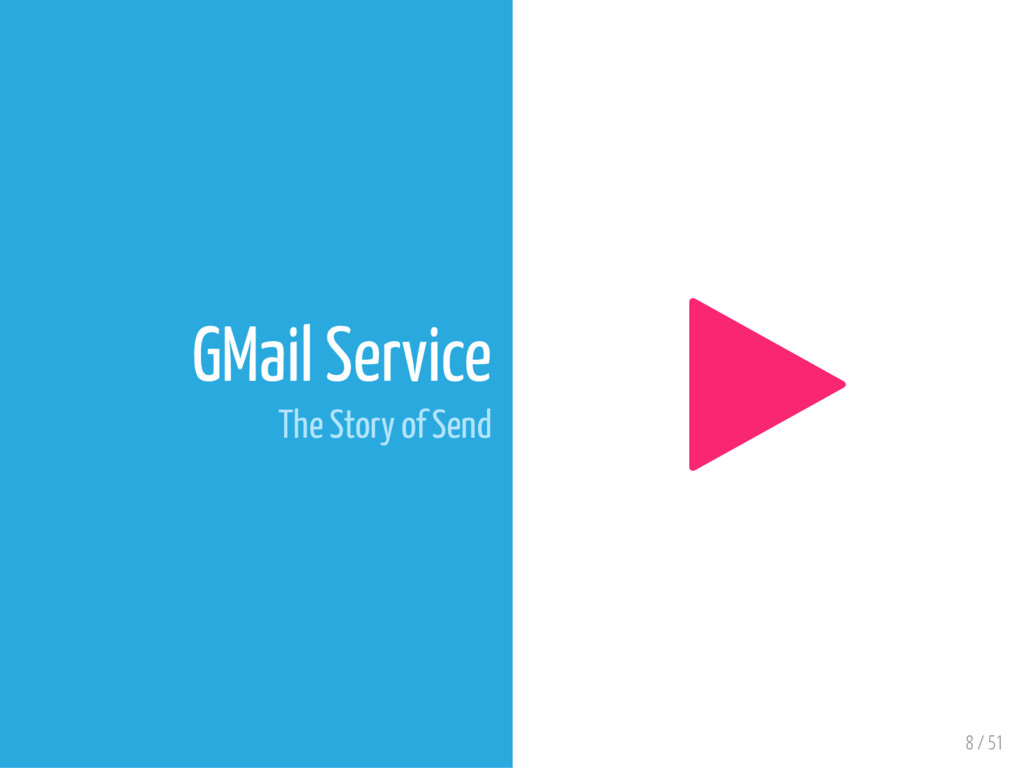 8 / 51 GMail Service The Story of Send 
