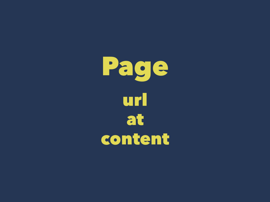 Page url at content