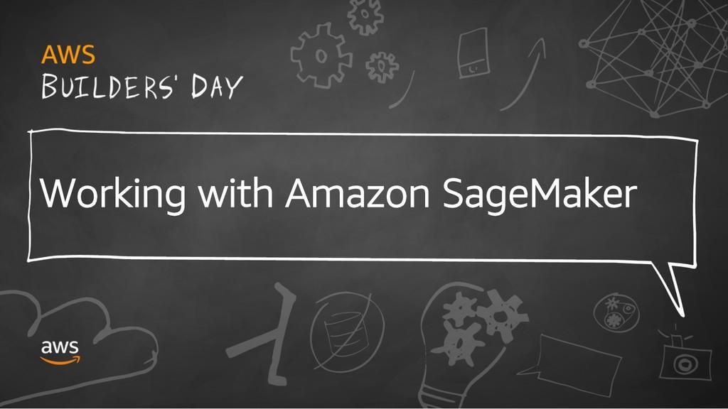 Working with Amazon SageMaker