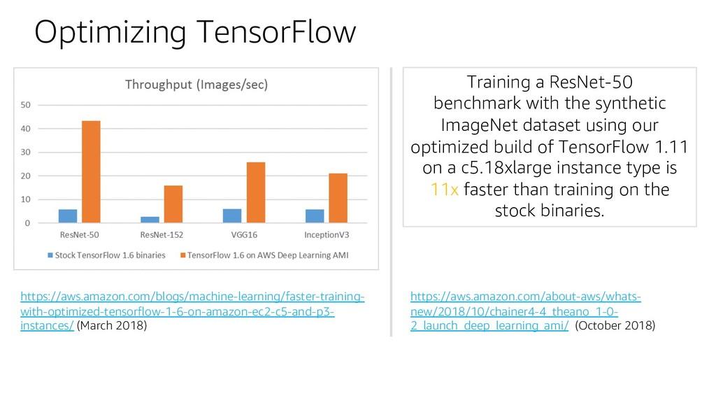 Optimizing TensorFlow https://aws.amazon.com/bl...