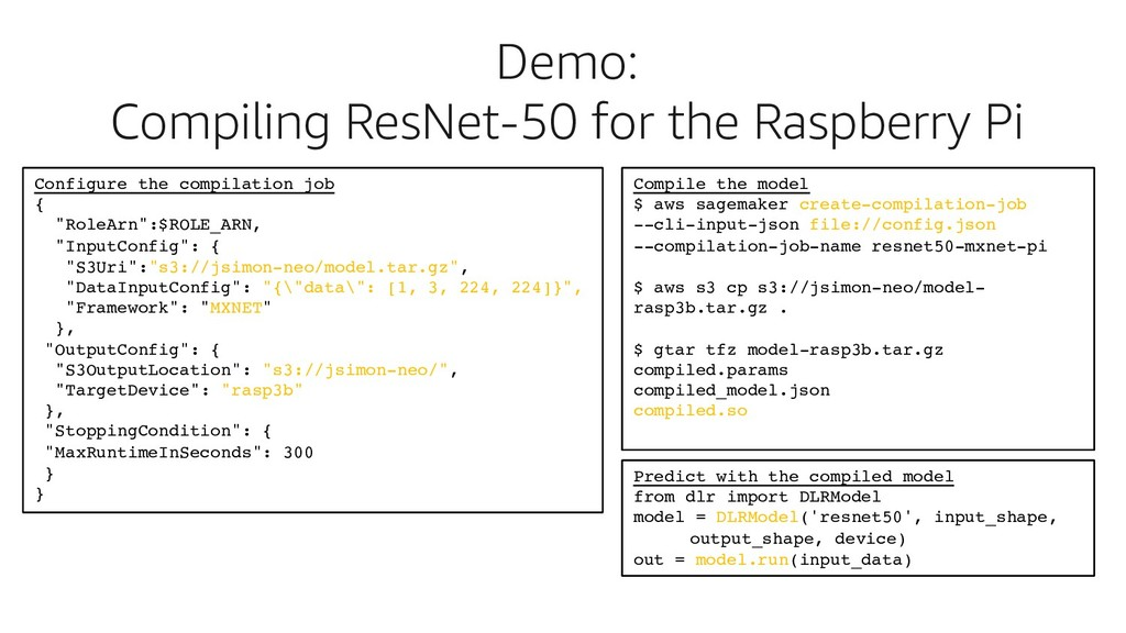 Demo: Compiling ResNet-50 for the Raspberry Pi ...