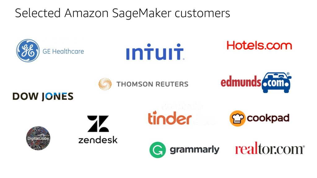 Selected Amazon SageMaker customers