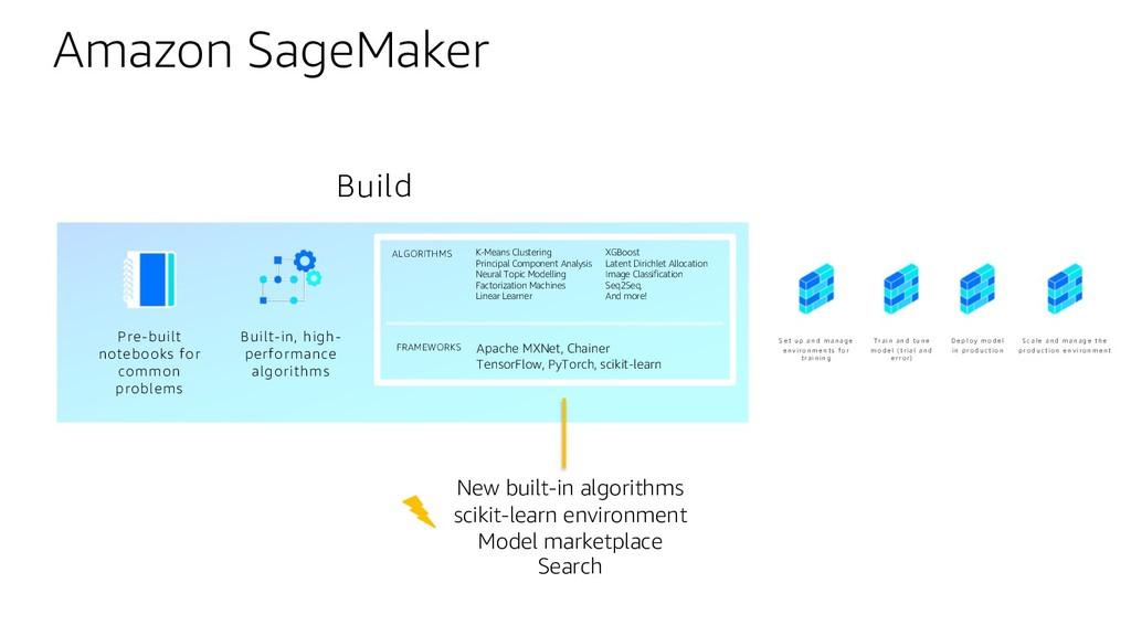 Amazon SageMaker Pre-built notebooks for common...