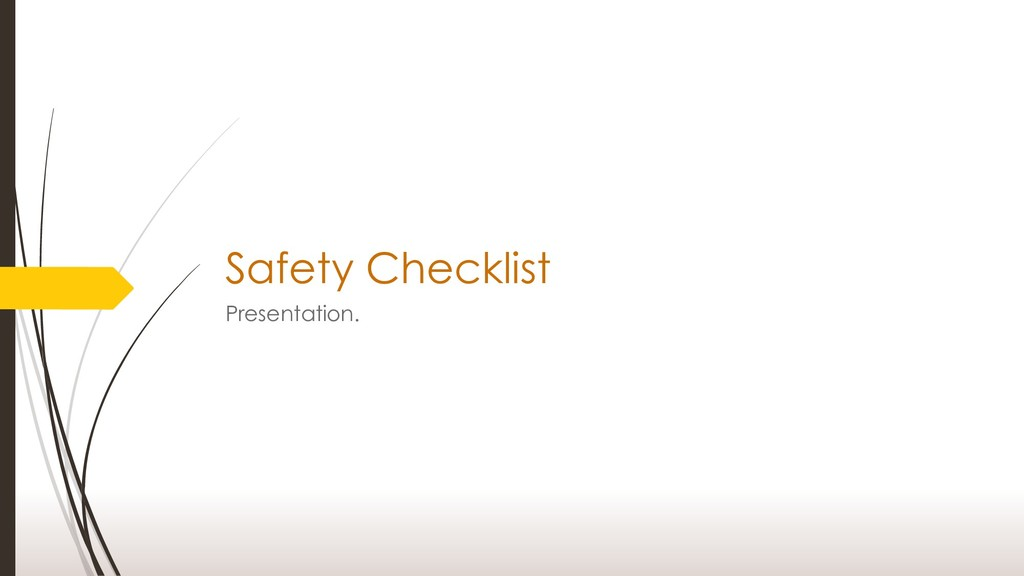 Safety Checklist Presentation.