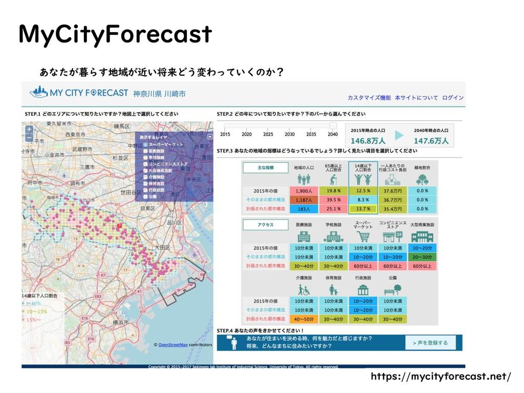 MyCityForecast あなたが暮らす地域が近い将来どう変わっていくのか? https:...