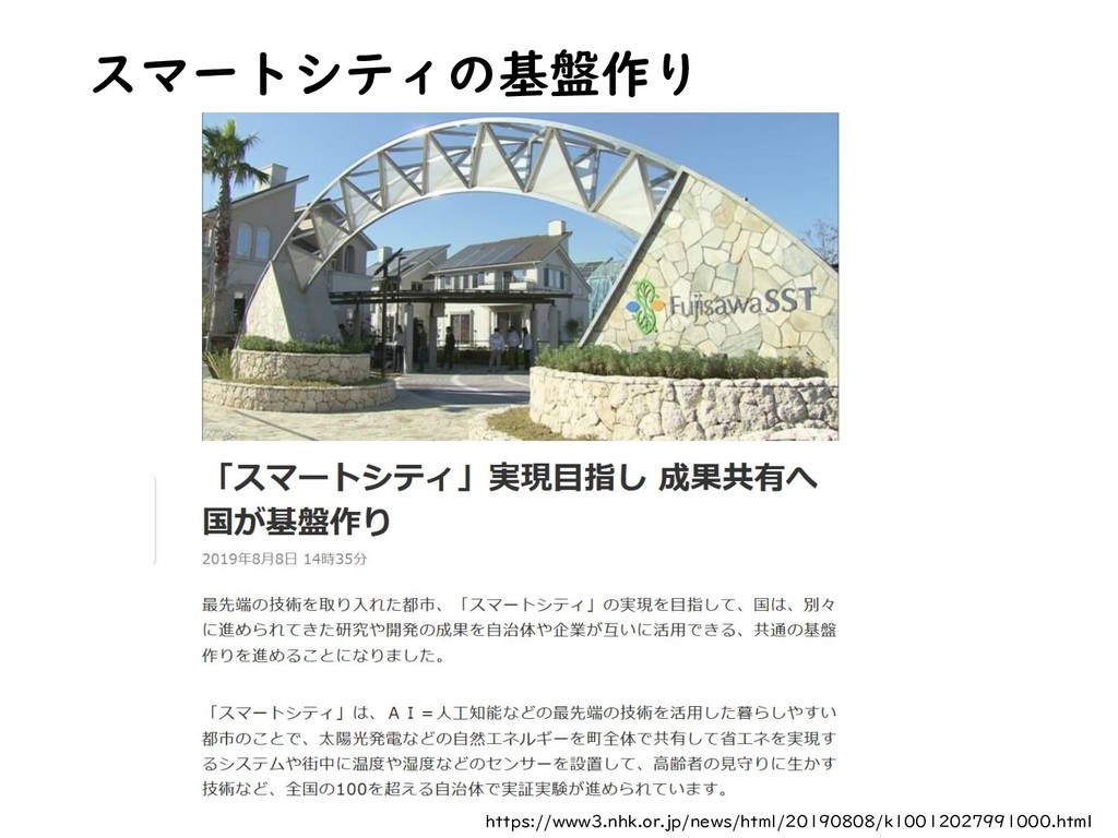 スマートシティの基盤作り https://www3.nhk.or.jp/news/html/2...
