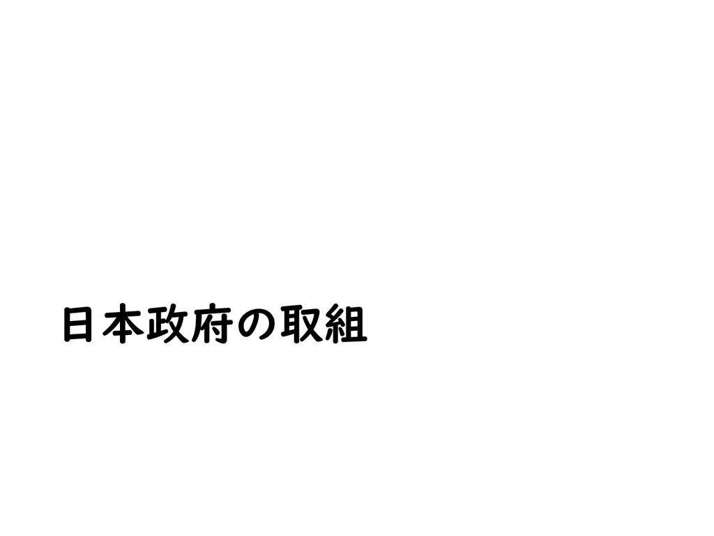 日本政府の取組