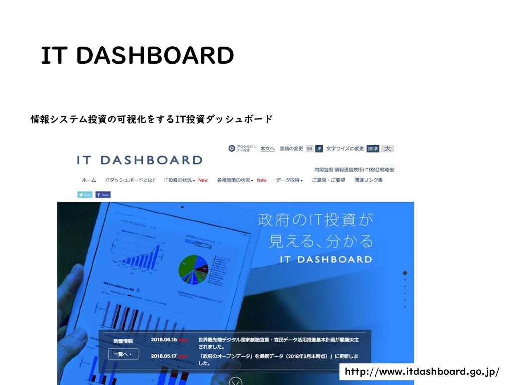 IT DASHBOARD 情報システム投資の可視化をするIT投資ダッシュボード http://...