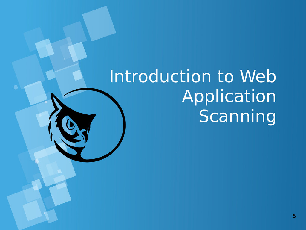5 Introduction to Web Application Scanning