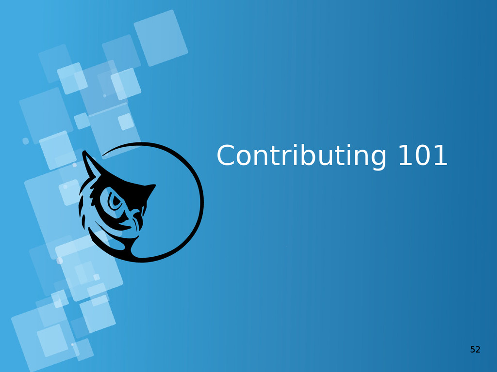52 Contributing 101