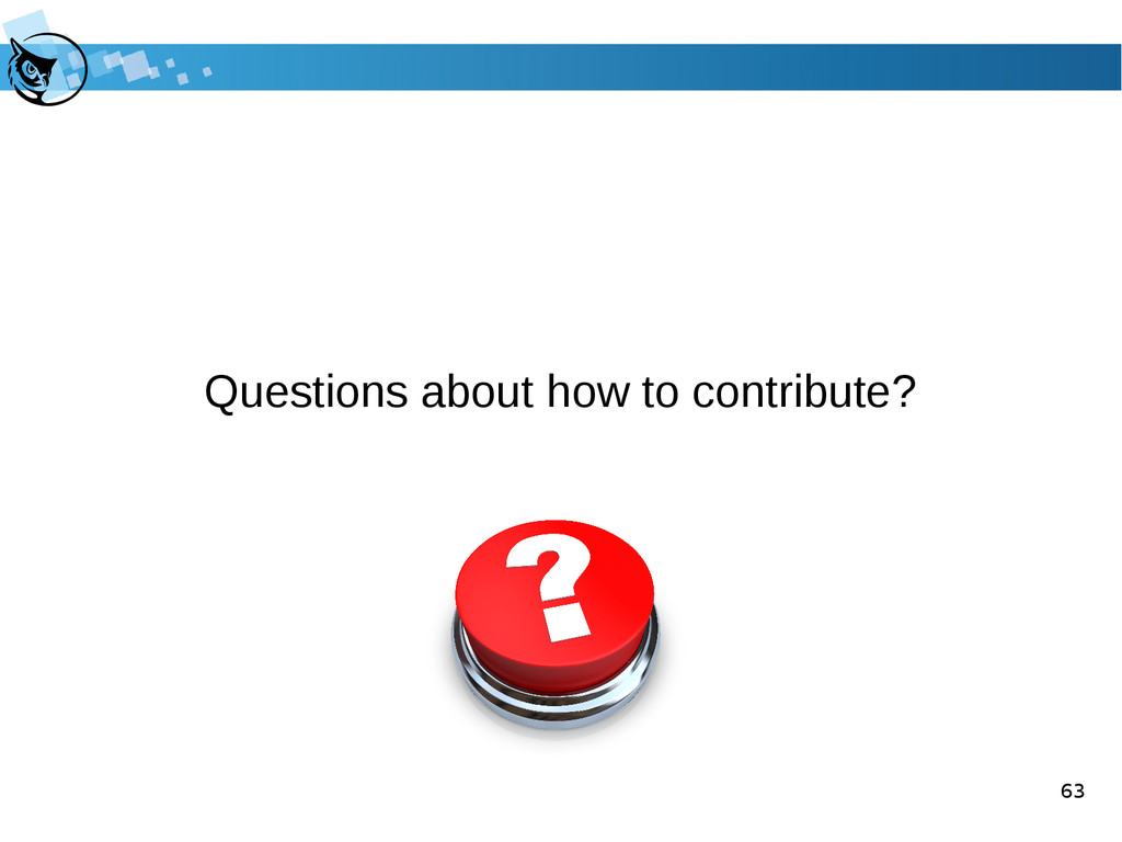 63 Questions about how to contribute?