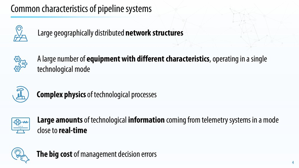 4 Common characteristics of pipeline systems Co...