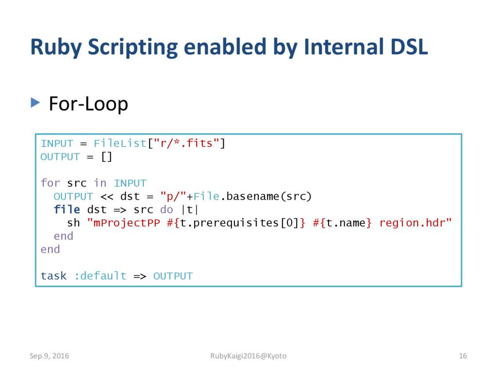 ▶ For-Loop Ruby Scripting enabled by Internal D...