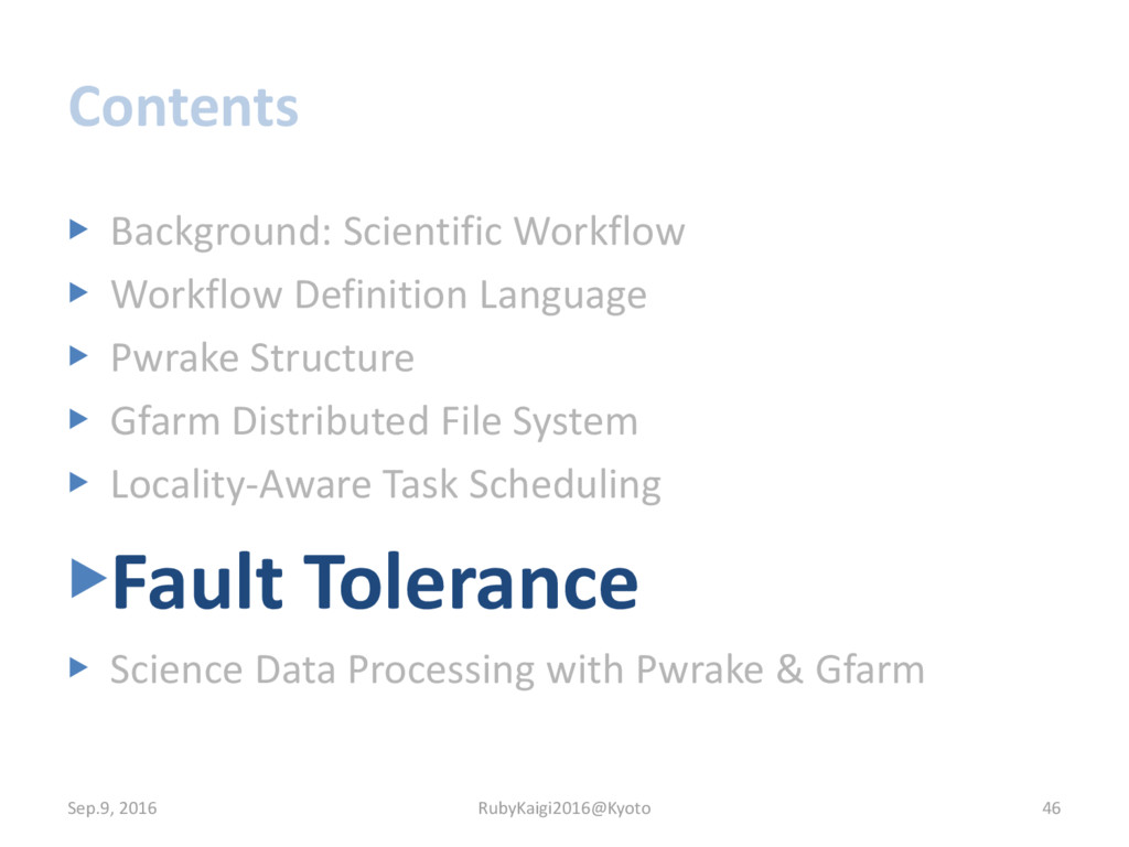 Contents ▶ Background: Scientific Workflow ▶ Wo...