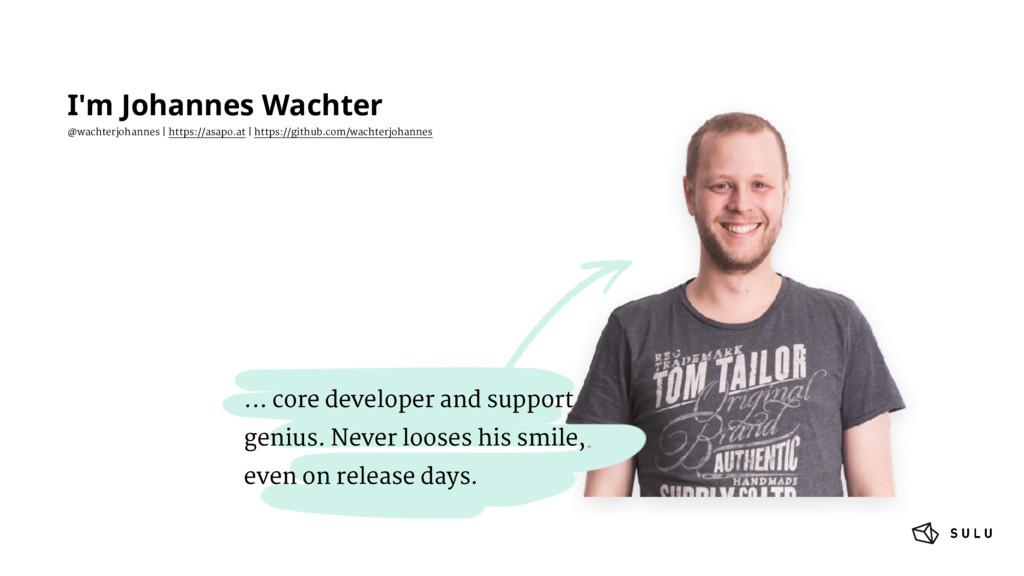 I'm Johannes Wachter @wachterjohannes   https:/...