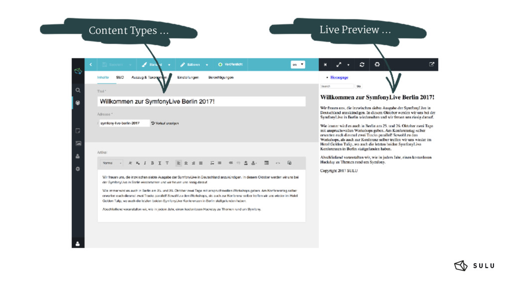 Content Types ... Live Preview ...