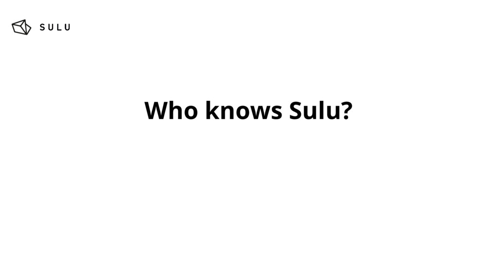 Who knows Sulu?
