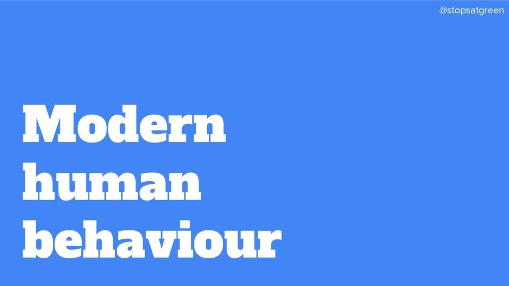 @stopsatgreen Modern human behaviour