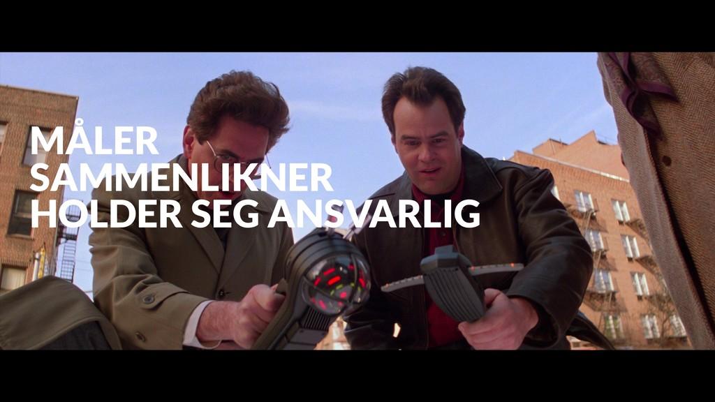 MÅLER SAMMENLIKNER HOLDER SEG ANSVARLIG