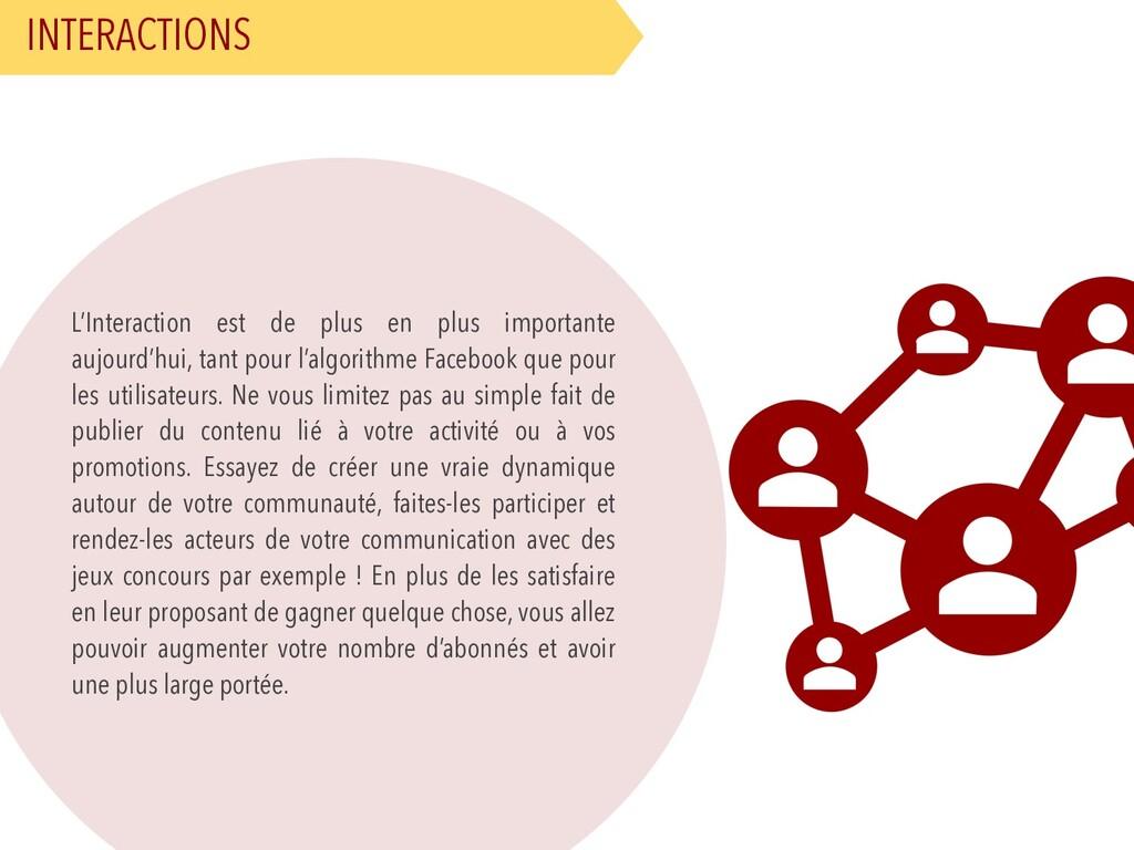 INTERACTIONS L'Interaction est de plus en plus ...