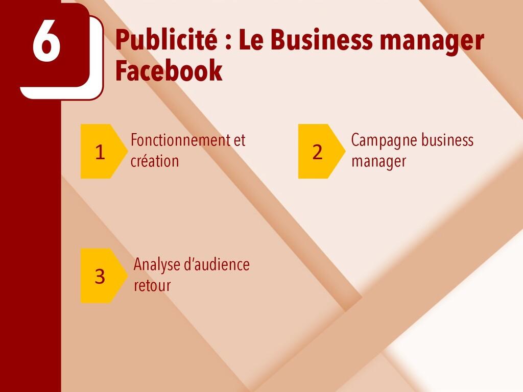 Publicité : Le Business manager Facebook 6 1 2 ...