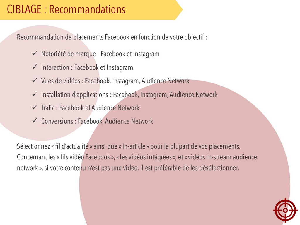CIBLAGE : Recommandations Recommandation de pla...