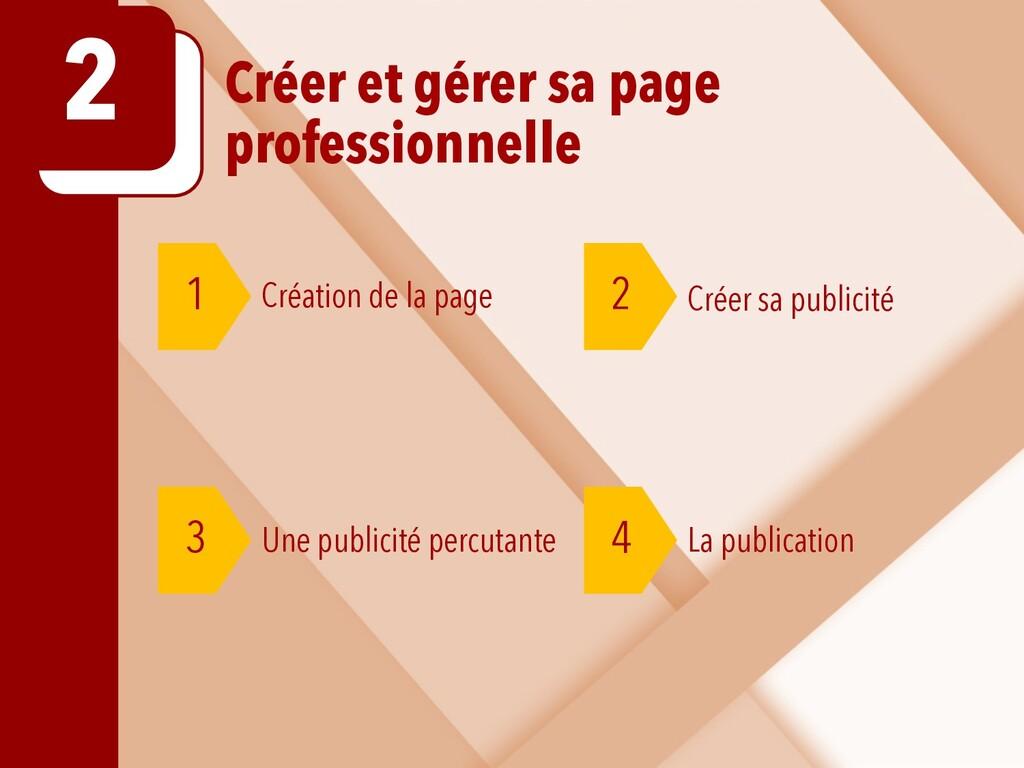 Créer et gérer sa page professionnelle 2 1 2 Cr...