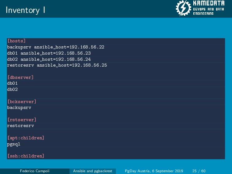 Inventory I [hosts] backupsrv ansible_host=192....