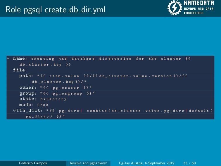 Role pgsql create db dir.yml - name: c r e a t ...