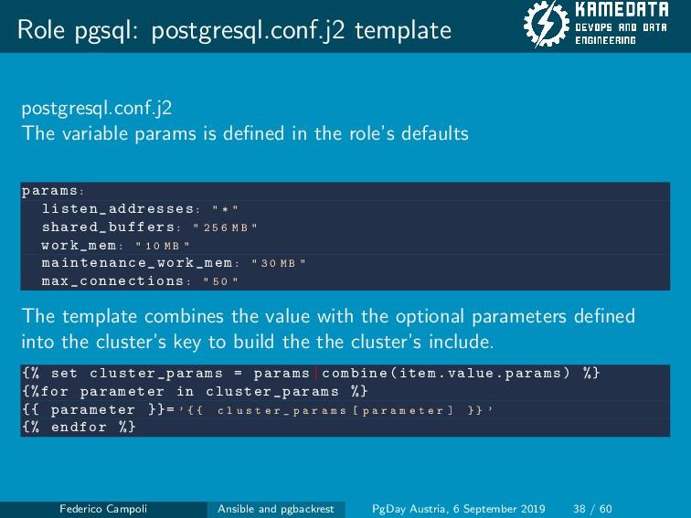 Role pgsql: postgresql.conf.j2 template postgre...