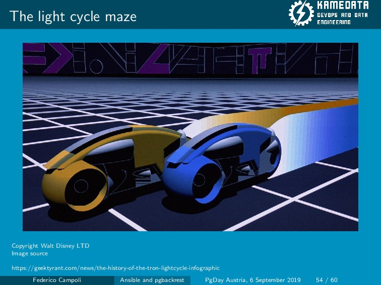The light cycle maze Copyright Walt Disney LTD ...