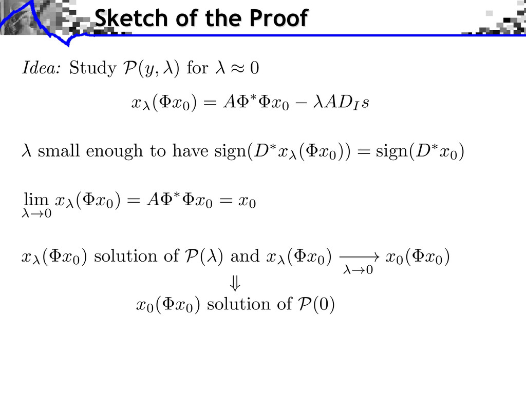 small enough to have sign(D ⇤ x ( x0)) = sign(D...