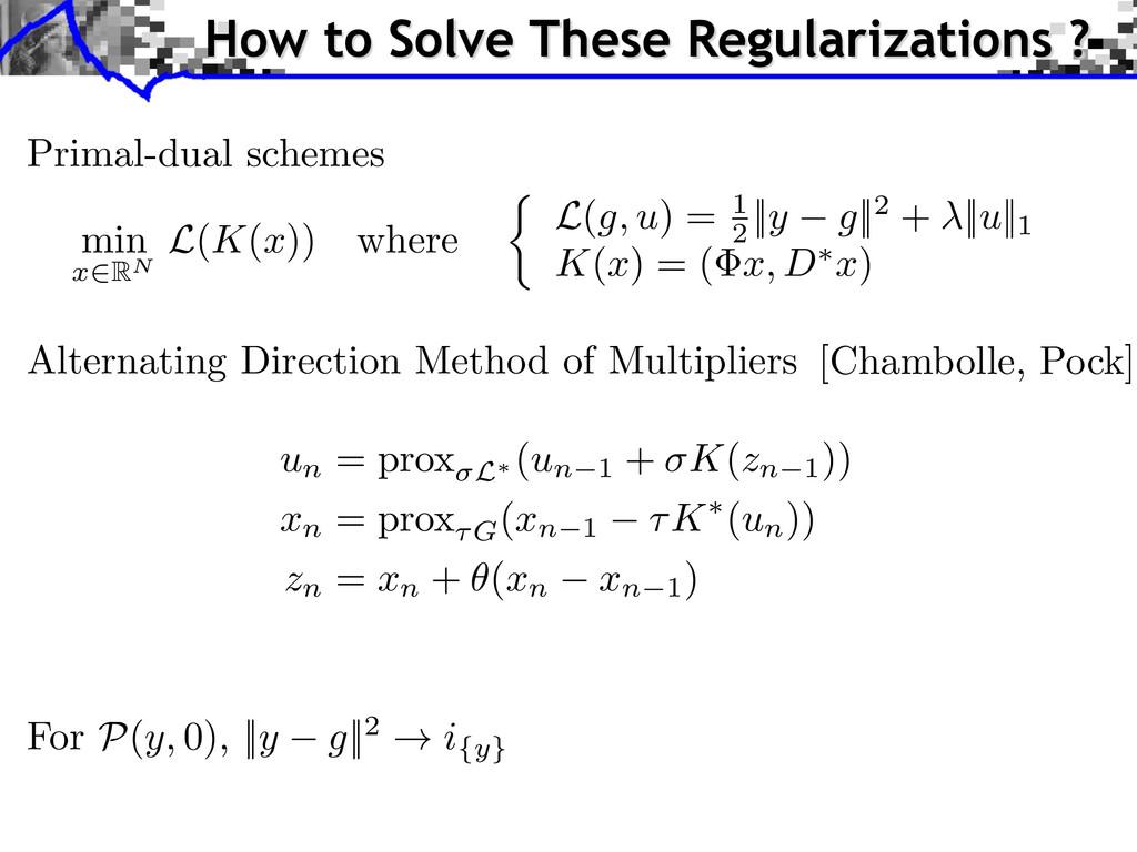 For P ( y, 0), ||y g||2 ! i{y} Alternating Dire...