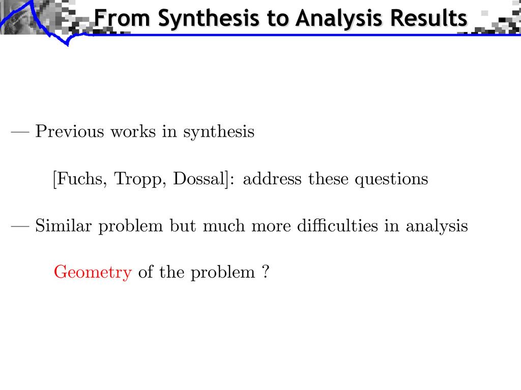 [Fuchs, Tropp, Dossal]: address these questions...