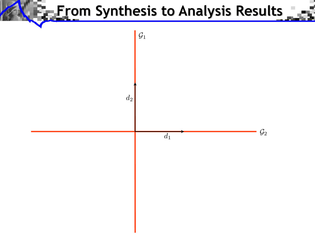 G2 G1 From Synthesis to Analysis Results d1 d2