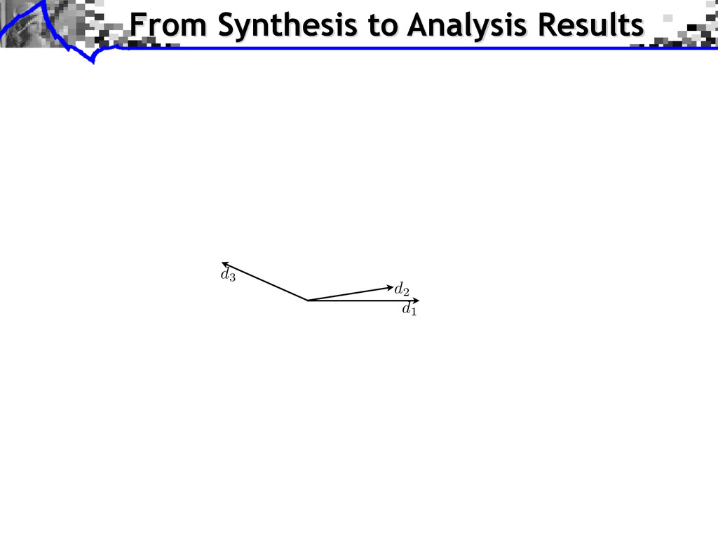 From Synthesis to Analysis Results d1 d2 d3