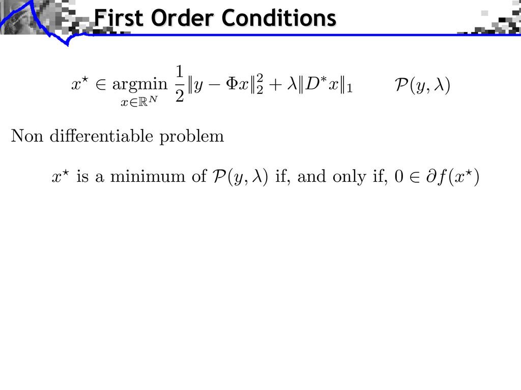 Non di↵erentiable problem x ? is a minimum of P...