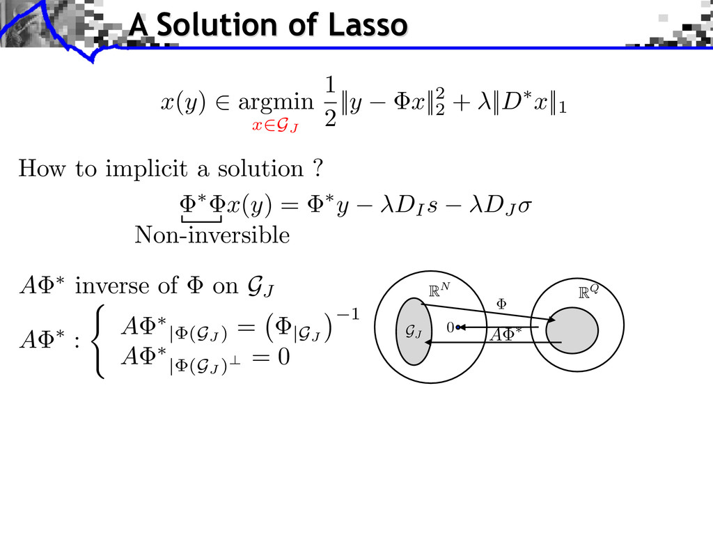 ⇤ x ( y ) = ⇤ y DI s DJ x ( y ) 2 argmin x 2GJ ...