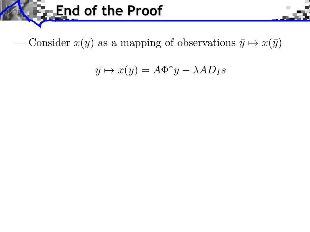 ¯ y 7! x (¯ y ) = A ⇤ ¯ y ADI s — Consider x(y)...