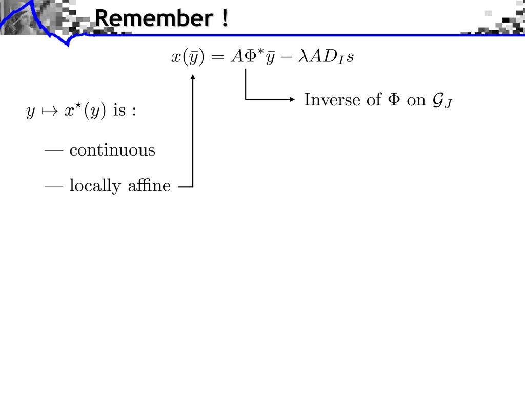 — continuous y 7! x ?( y ) is : x (¯ y ) = A ⇤ ...